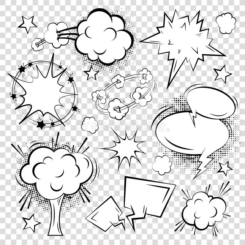 Comic text bubble blank stock illustration