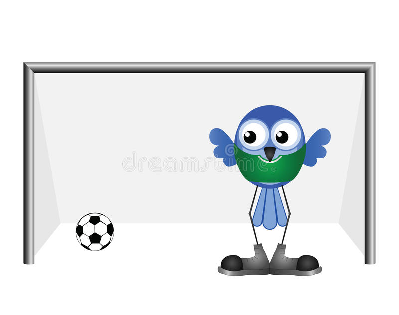 Download Comical goalkeeper stock vector. Illustration of competition - 26426149
