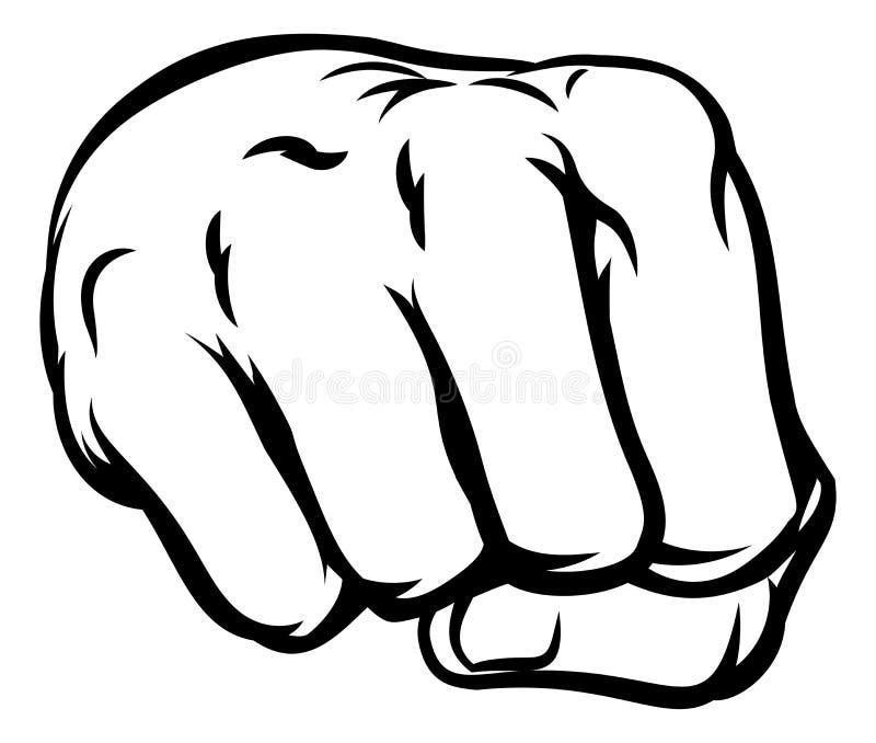 Comicbook Style Fist stock illustration