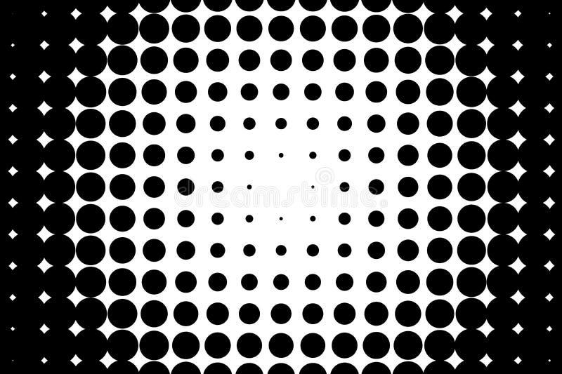 Comico, fondo del fumetto stile di Pop art Modello con i piccoli cerchi, punti Modello punteggiato del semitono royalty illustrazione gratis