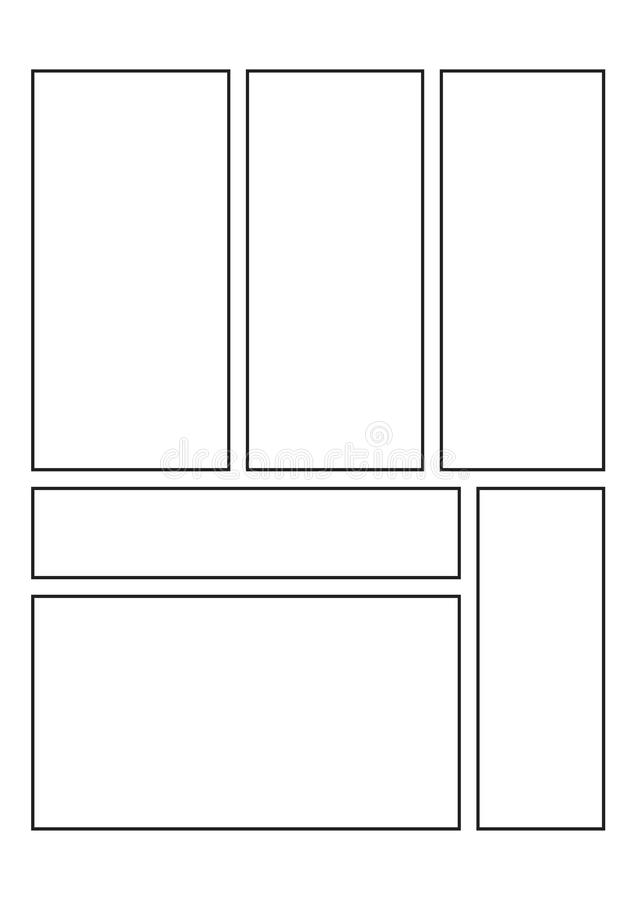 Comics blank layout template background. Vector stock illustration