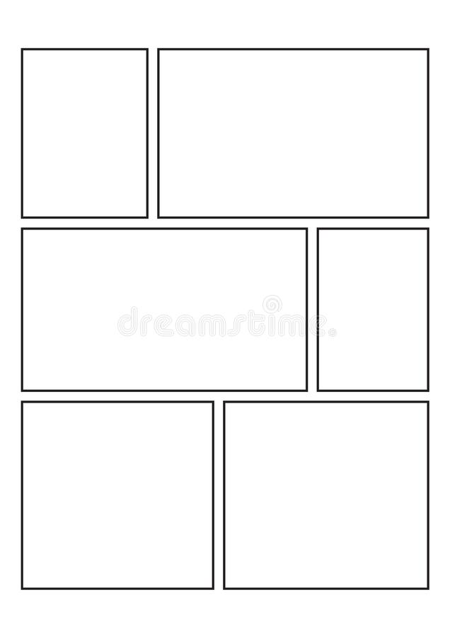 Comics blank layout template background. Vector illustration vector illustration