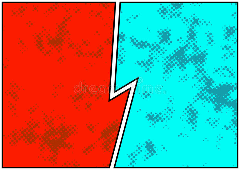 Comics blank story page spotted and bright. Retro comic empty do vector illustration
