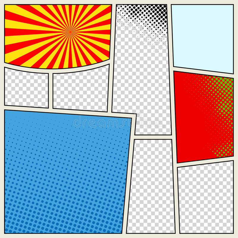 Free Comics Book Background In Different Colors. Blank Template Background. Pop-art Style Royalty Free Stock Image - 88417946