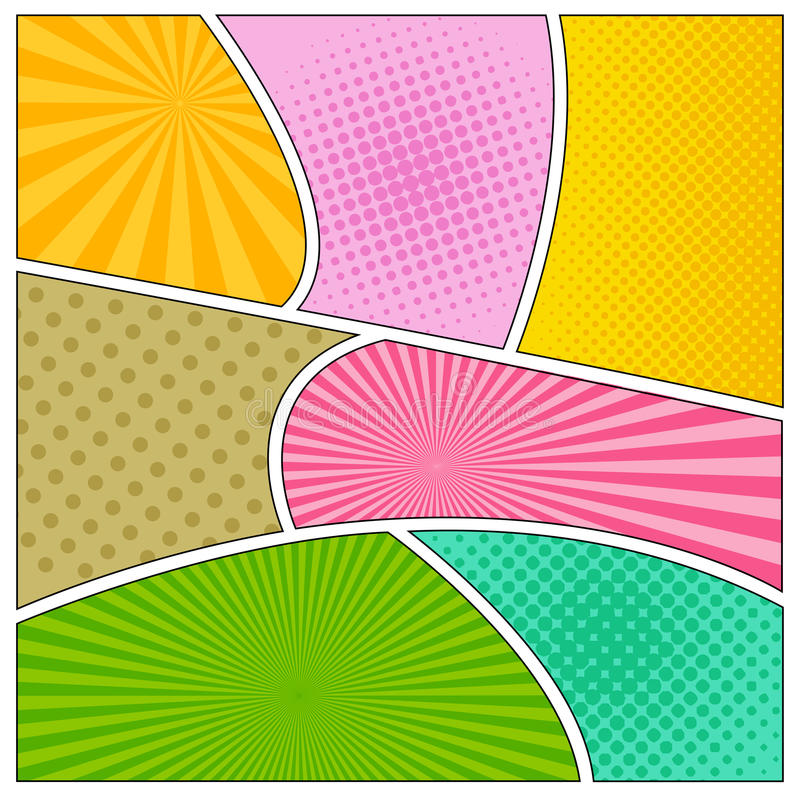 Comics book background vector illustration