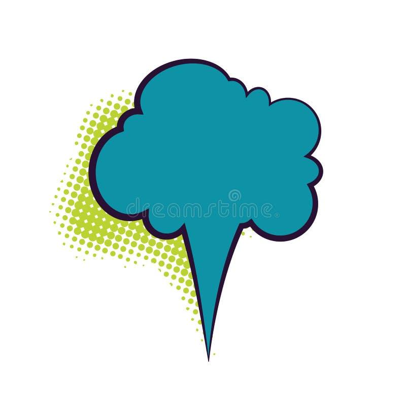 Comics Book Dialog Empty Cloud Stock Vector - Illustration