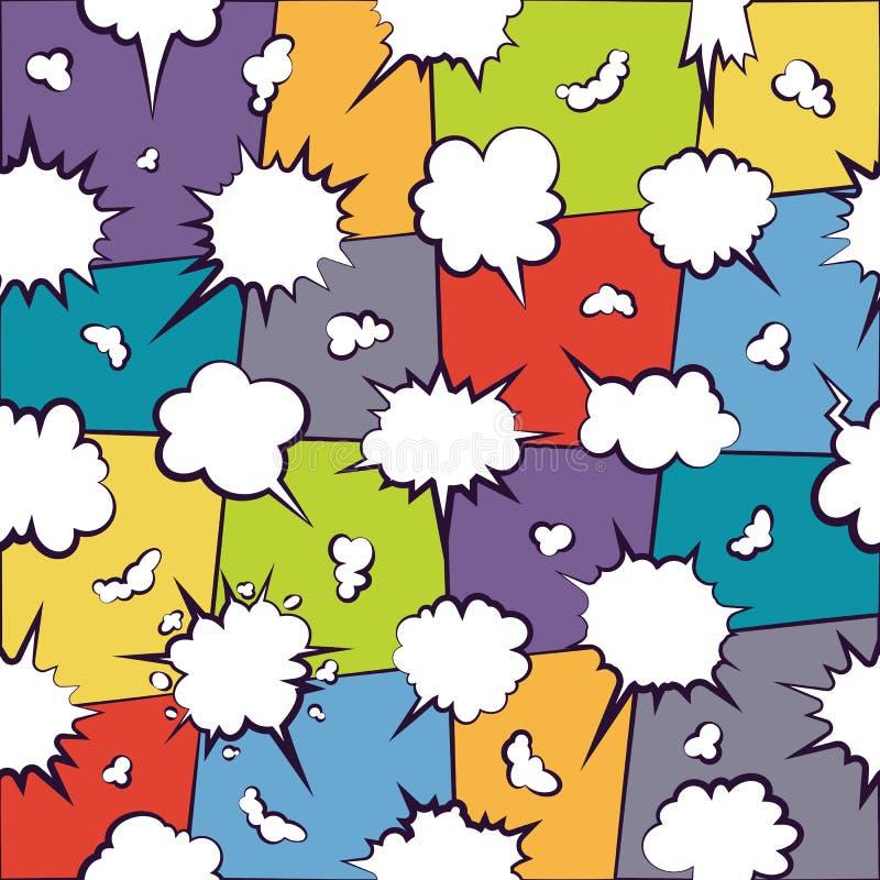 Comics, die leeres Wolkenmuster plaudern lizenzfreie abbildung