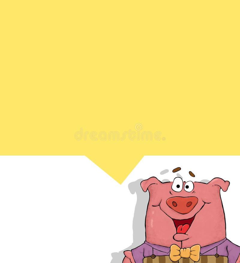 Comics - lächelndes Schwein lizenzfreie abbildung