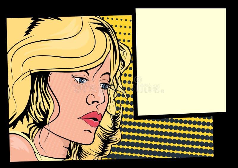 Comics-Mädchen stock abbildung