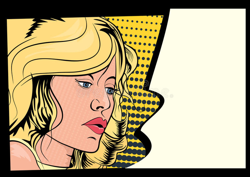 Comics-Mädchen lizenzfreie abbildung