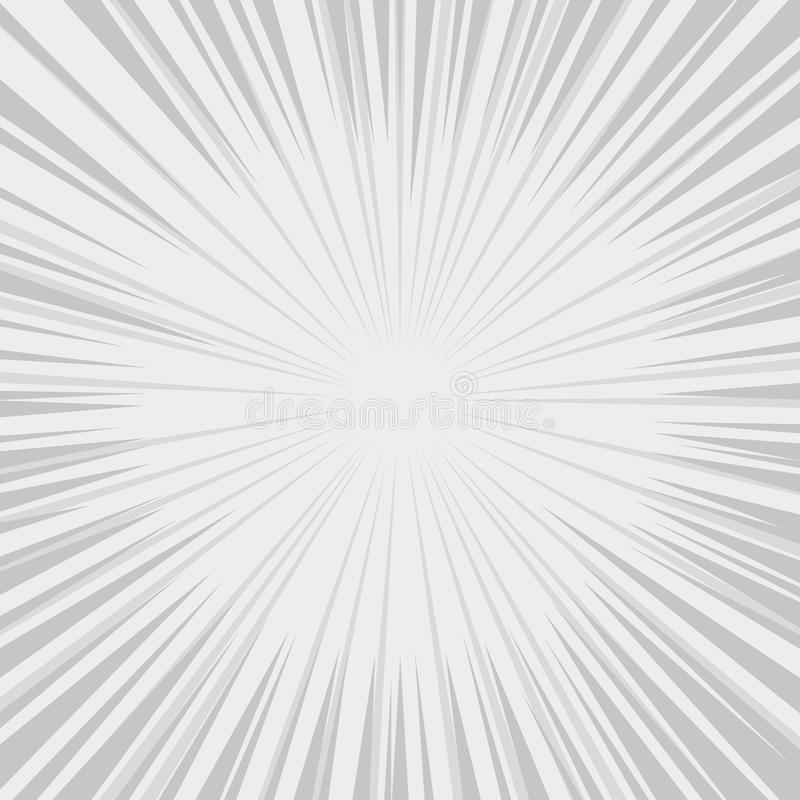 Comics Radial Speed Lines graphic effects. Vector royalty free illustration