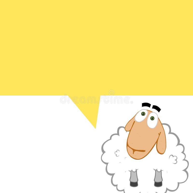 Comics sheep royalty free illustration