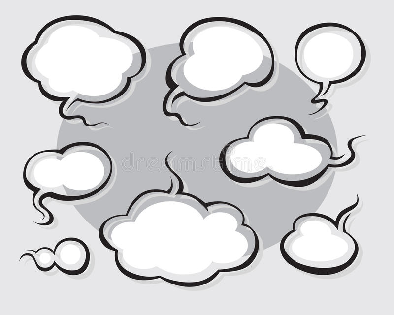 Download Comics Word And Thought Bubbles Stock Vector - Illustration of gray, icon: 13918298