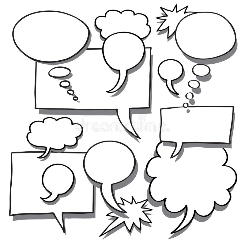Download Comics Word And Thought Bubbles Stock Vector - Image: 14649338