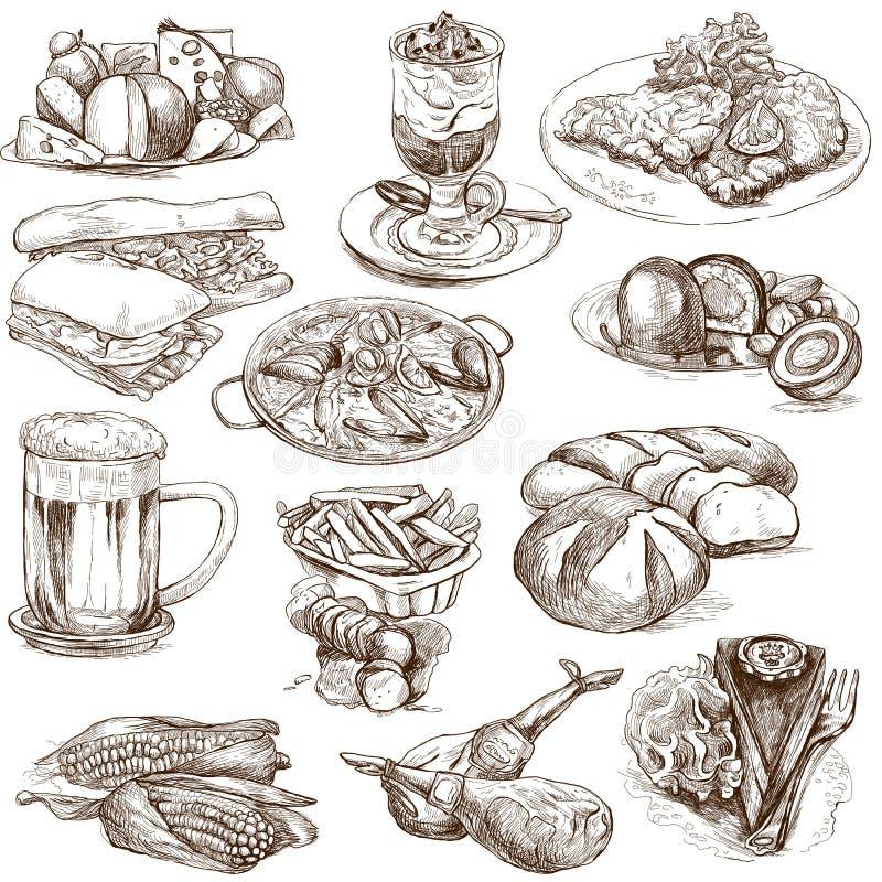 Comida 2 stock de ilustración