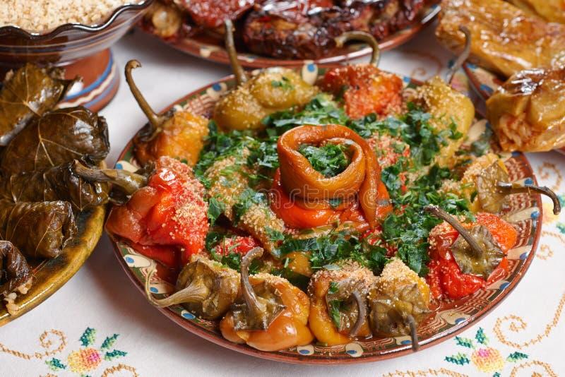 Comida búlgara de la Navidad imagen de archivo libre de regalías