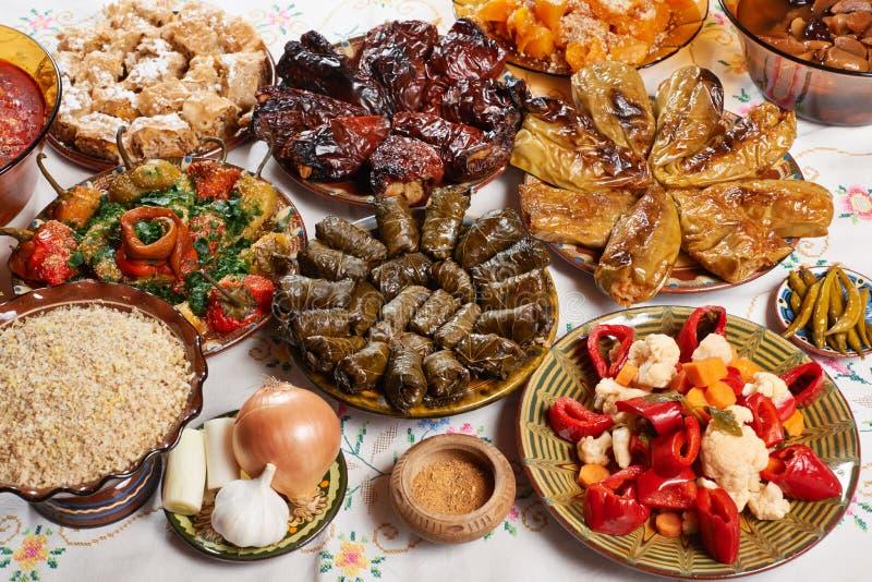 Comida búlgara de la Navidad fotografía de archivo libre de regalías