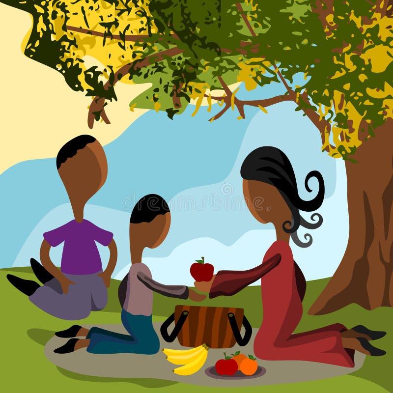 Comida campestre de la familia libre illustration
