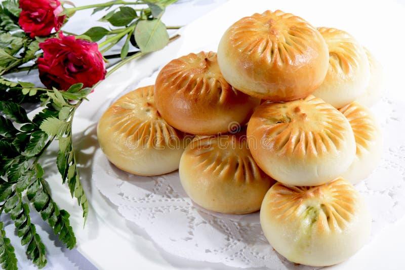 Comida china: Bolas de masa hervida tostadas fotografía de archivo libre de regalías
