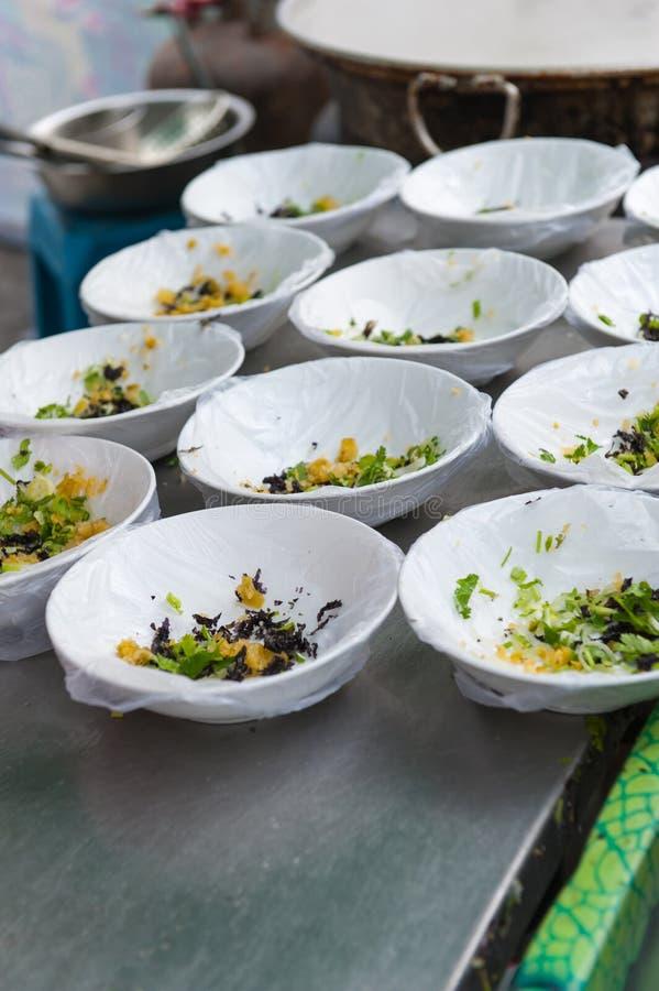 Comida china de la calle - sopa imágenes de archivo libres de regalías