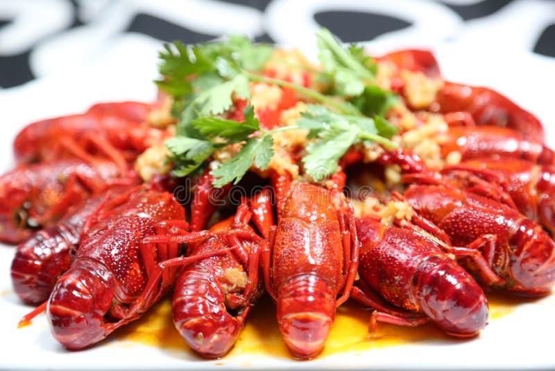 Comida china Sichuan de los cangrejos picantes imágenes de archivo libres de regalías