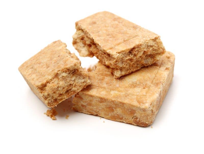 Comida comprimida de la galleta imagen de archivo