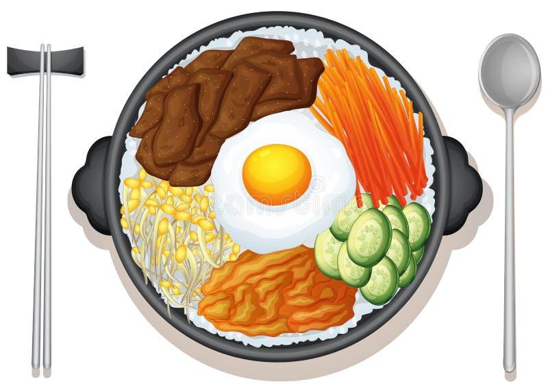 Comida coreana stock de ilustración