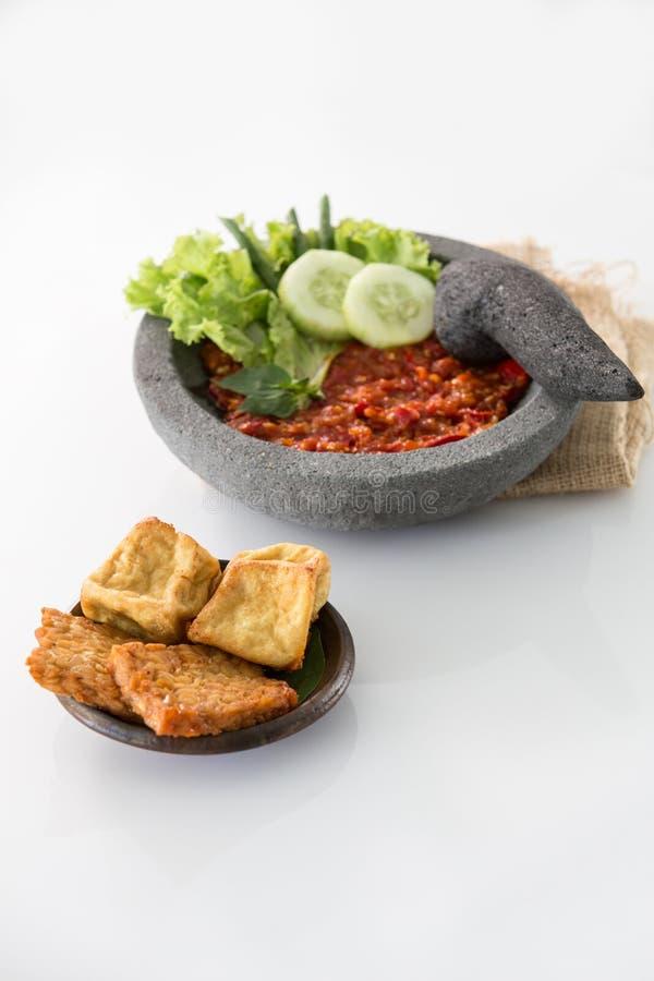 Comida culinaria indonesia tradicional foto de archivo libre de regalías