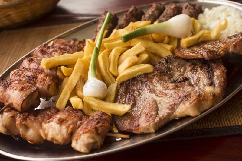 Comida de alimentos de preparación rápida de la carne de cerdo foto de archivo