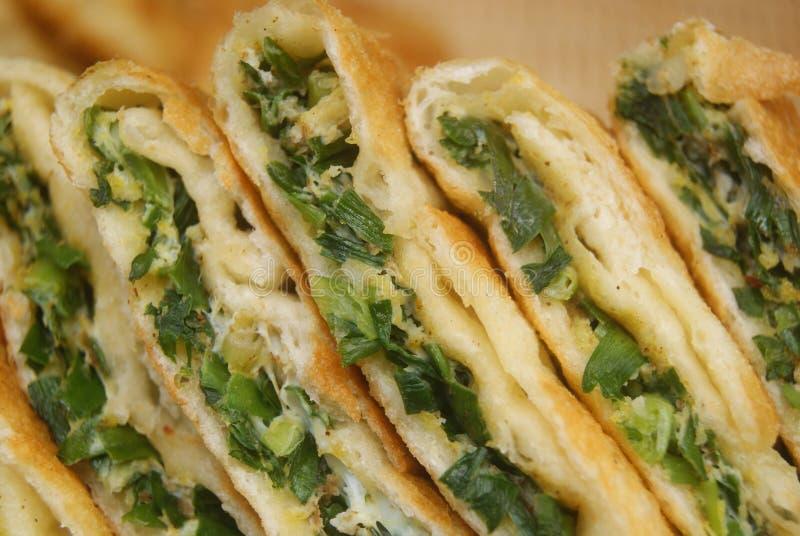 Comida de China: crepe de la cebolla verde imágenes de archivo libres de regalías