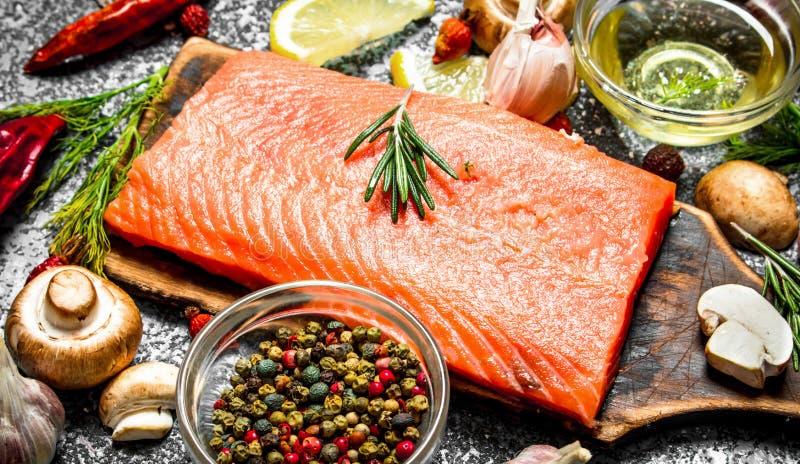 Comida de color salmón fotos de archivo libres de regalías