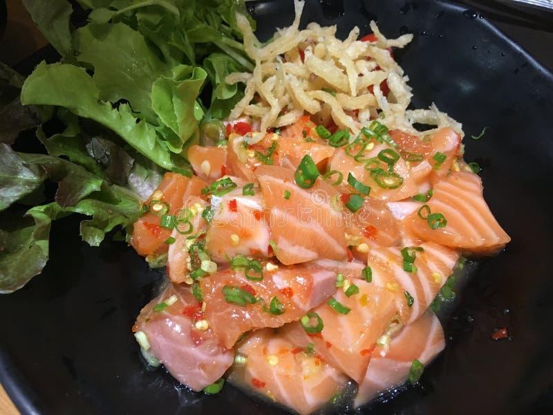 Comida de color salmón de Japón imágenes de archivo libres de regalías