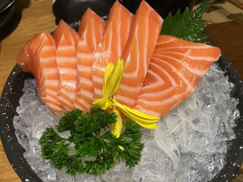 Comida de color salmón de Japón imagenes de archivo