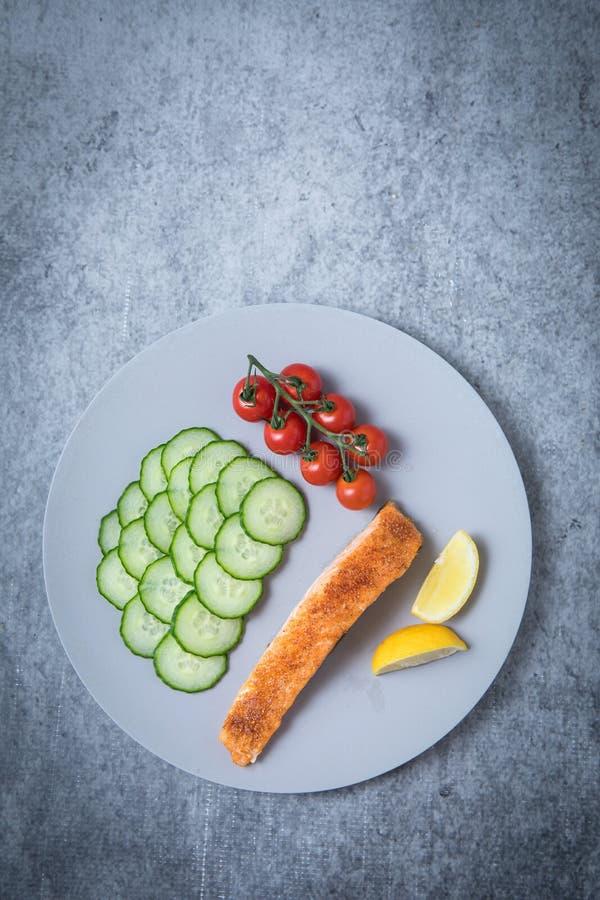 Comida de color salmón sana fotos de archivo libres de regalías