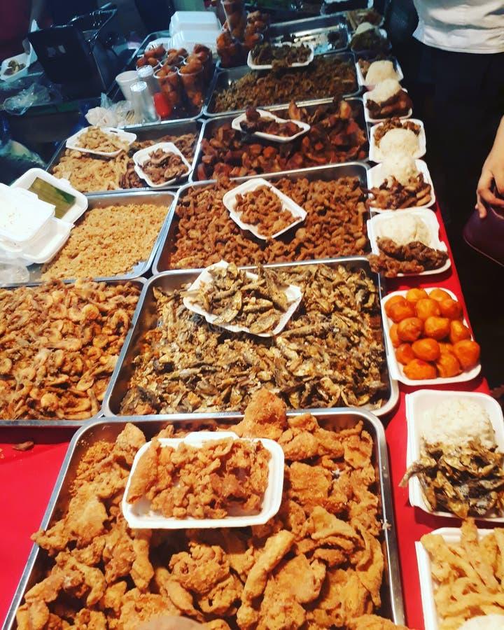 comida de la calle de los phillipines fotos de archivo