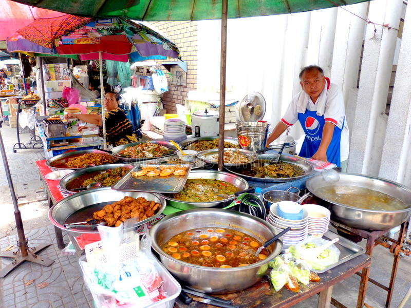 Comida de la calle en el bangok Tailandia imagenes de archivo