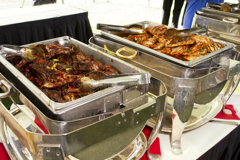 Comida de la comida fría del centro turístico del hotel fotos de archivo