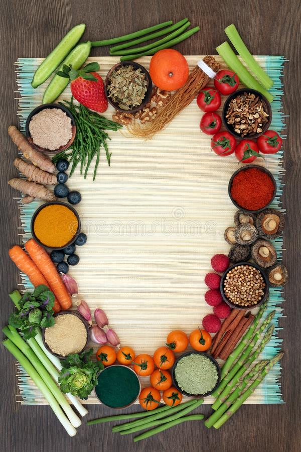 Comida de la dieta del Detox del h?gado foto de archivo