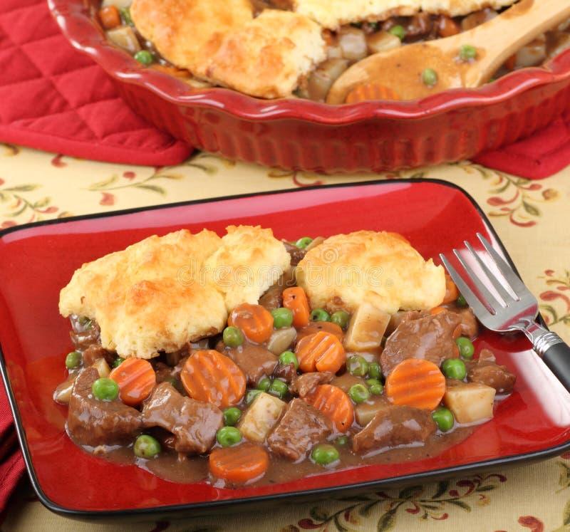 Comida de la empanada caliente de la carne de vaca fotografía de archivo libre de regalías
