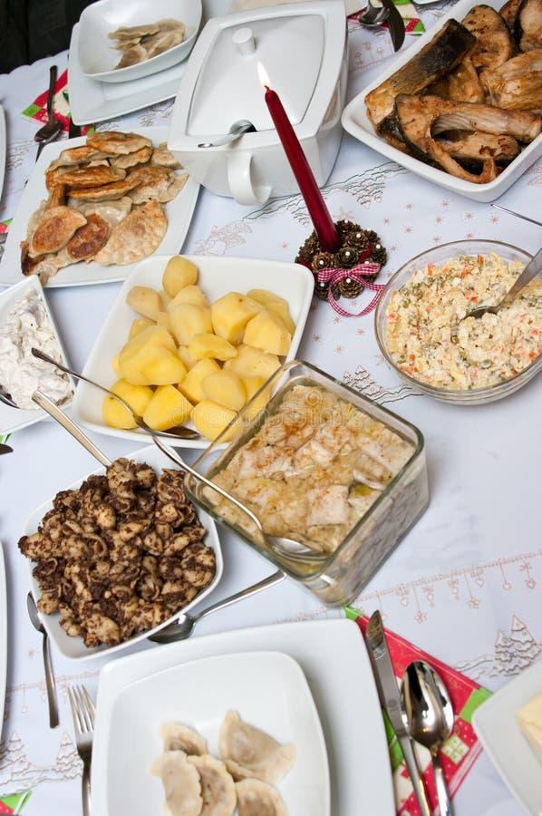 Comida de la Navidad fotos de archivo