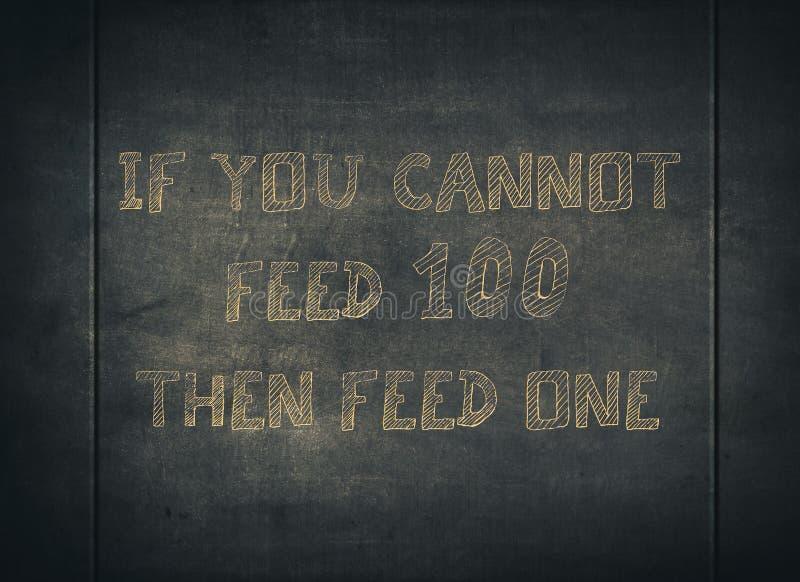 Comida de la parte de la alimentaci?n que cuida para ayudar a tipograf?a sin hogar imagen de archivo libre de regalías