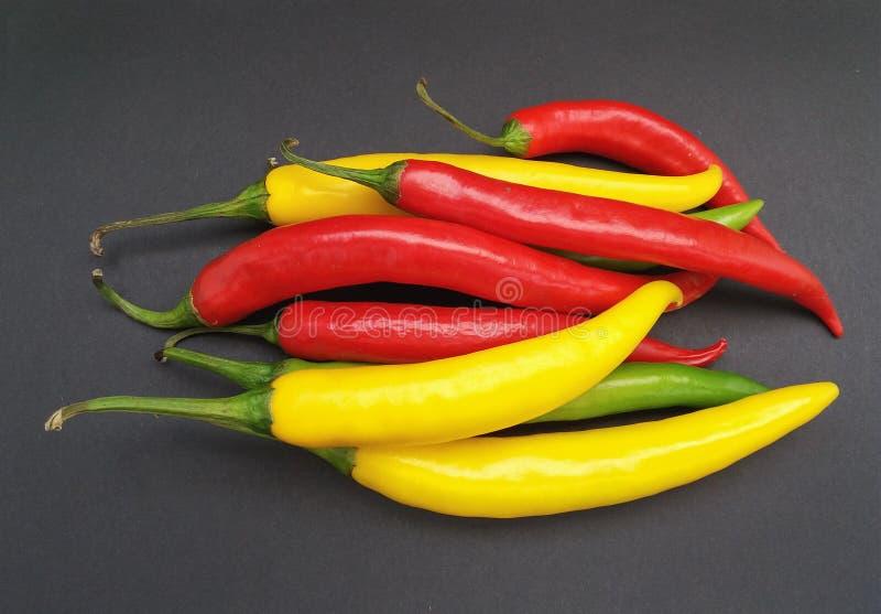 Comida de las verduras de la pimienta del chile picante imagenes de archivo