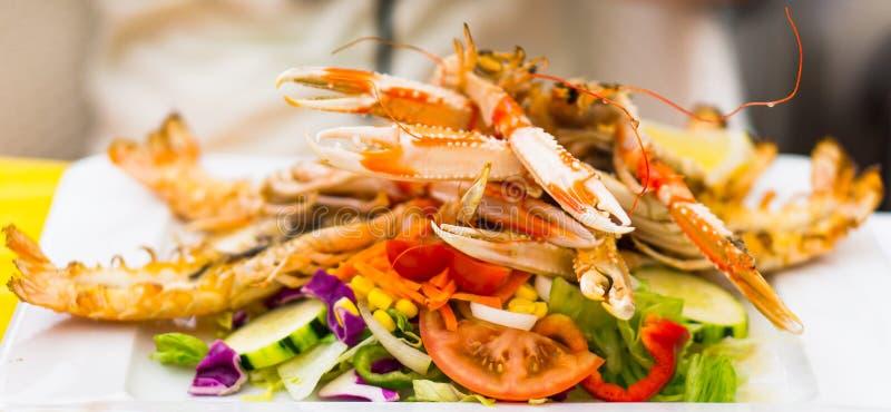 Comida de los cangrejos fotografía de archivo libre de regalías