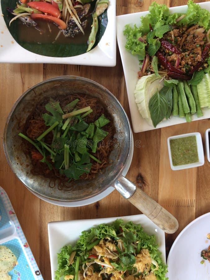Comida de nordeste, cocina tailandesa y concepto del viaje fotografía de archivo libre de regalías