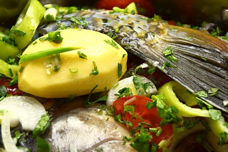 Comida de pescados imagen de archivo libre de regalías