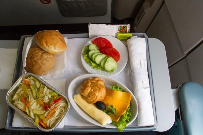 Comida del aeroplano imagen de archivo libre de regalías