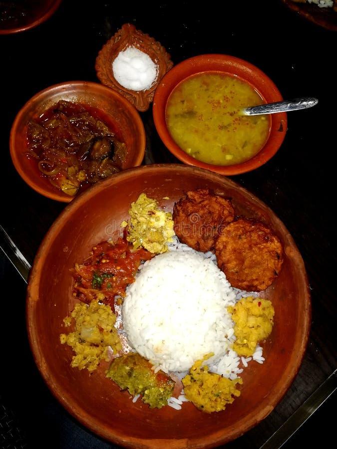 comida del bangali fotografía de archivo libre de regalías