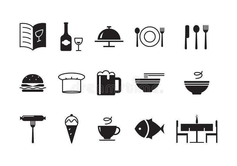Comida del icono, vector stock de ilustración