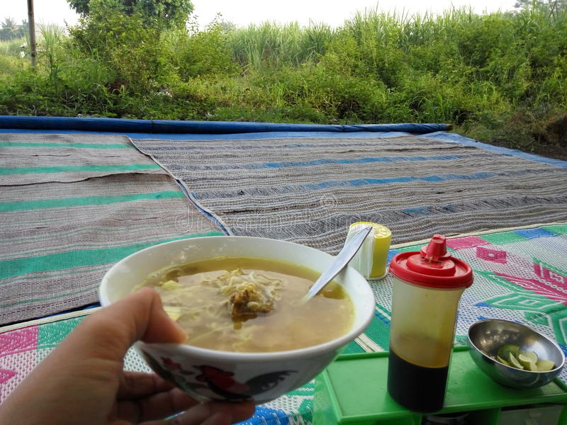 Comida del indonesio del Javanese de Soto imagen de archivo