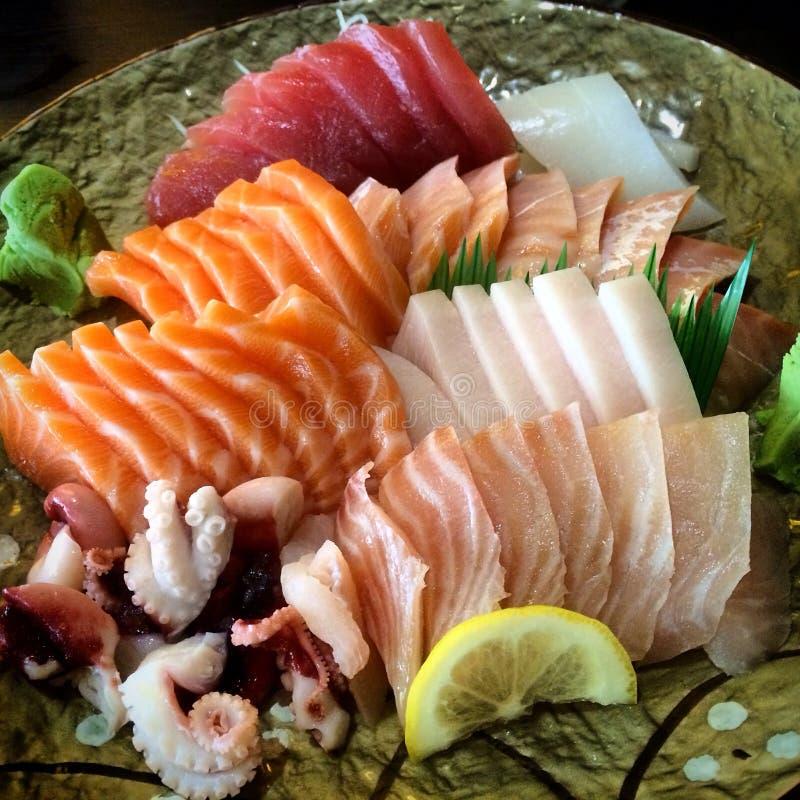 Comida del japonés del Sashimi fotos de archivo